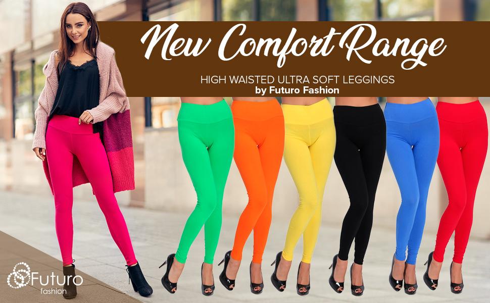 Cotton Spandex Ankle Length Leggings Pants Misses Women/'s Plus Size S-5XL COLORS