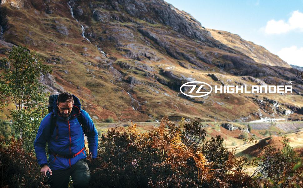 Stow&Go waterproof Jacket, Highlander Outdoor, Scotland, Packaway Jacket, lightweight
