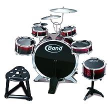 Childs Kids 10 Piece Drum Kit Jazz Band Sound Drums Play Set Musical