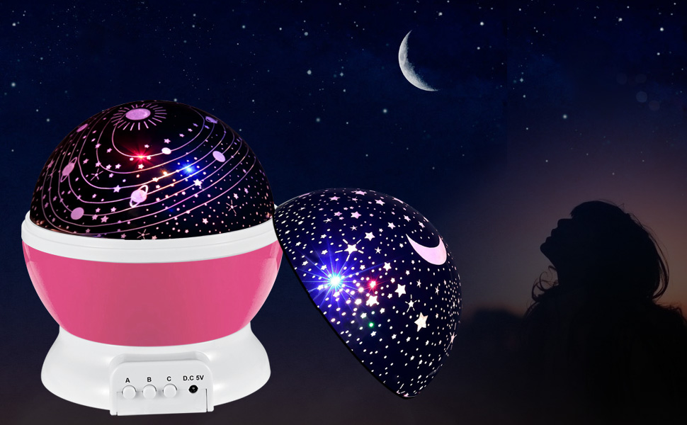 Baby Star Light Projector,SCOPOW 360 Degree Rotating LED ...