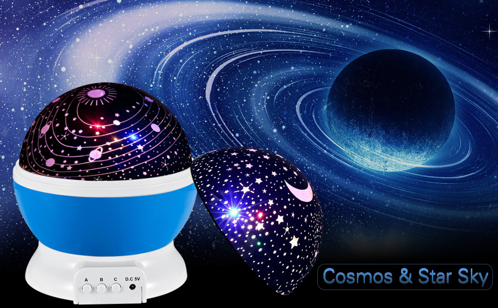 Baby Star Light Projector Scopow 360 Degree Rotating 3