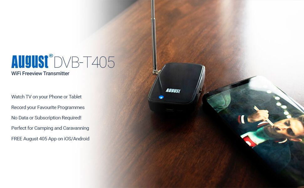 Apple and Android TV Tuner - August DVB-T405 - Watch Live Freeview on  Smartphones and Tablets