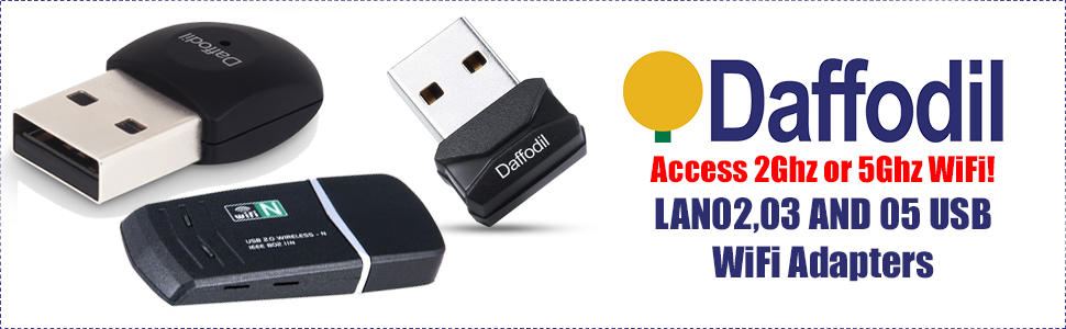 Daffodil Ultra Fast 5Ghz WiFi Dongle LAN05 - Add High Speed AC Internet to  Your Laptop or Desktop PC Without Using a Screwdriver or Engineer