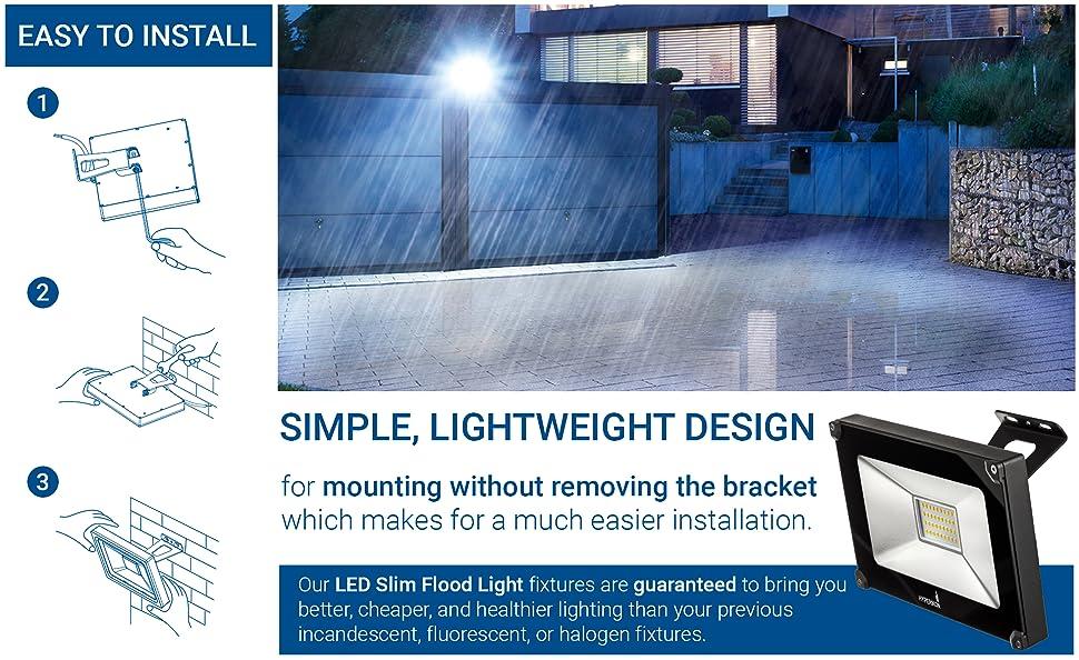 Hyperikon 30W LED Flood Light (120 Watt Equivalent) - Crystal White ...