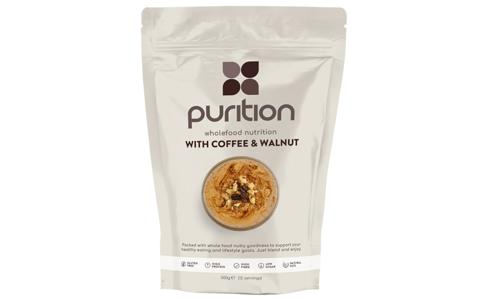 Purition Coffee and Walnut protein powder protein shake whey protein