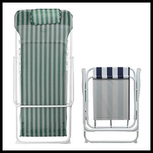 Harbour Housewares Traditional Folding Metal Garden Deck Chairs Deckchairs Beach Striped Retro