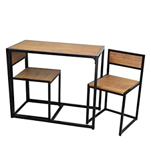 Harbour Housewares 3 Piece, 2 Person Dining Table And Chairs Set