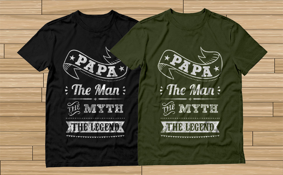 d40bb0798 Product Description. Papa The Man The Myth The Legend - Funny Father Gift  Idea For Dad or Grandad T-Shirt