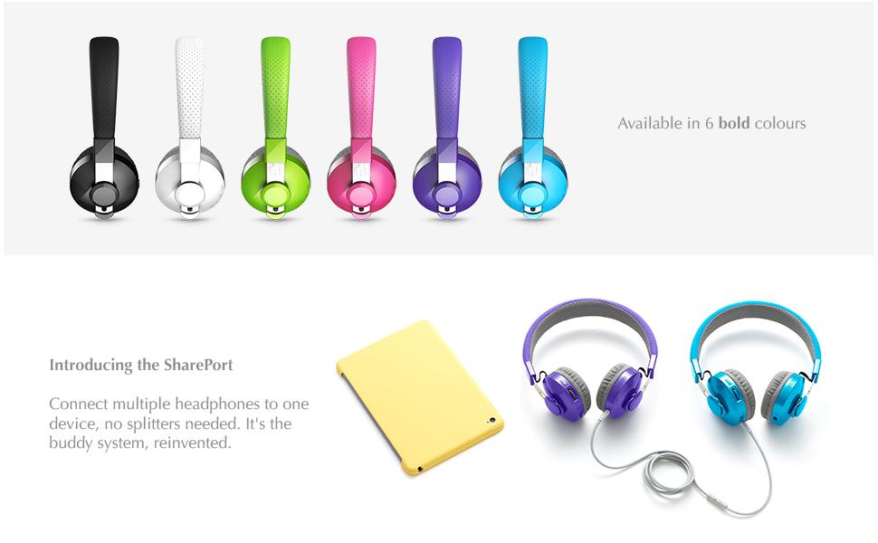Coloured headphones for children