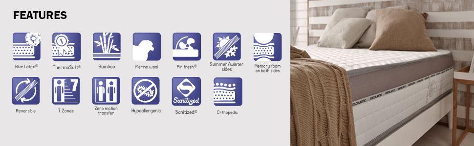 key features of the visco memory foam mattress - best mattress uk