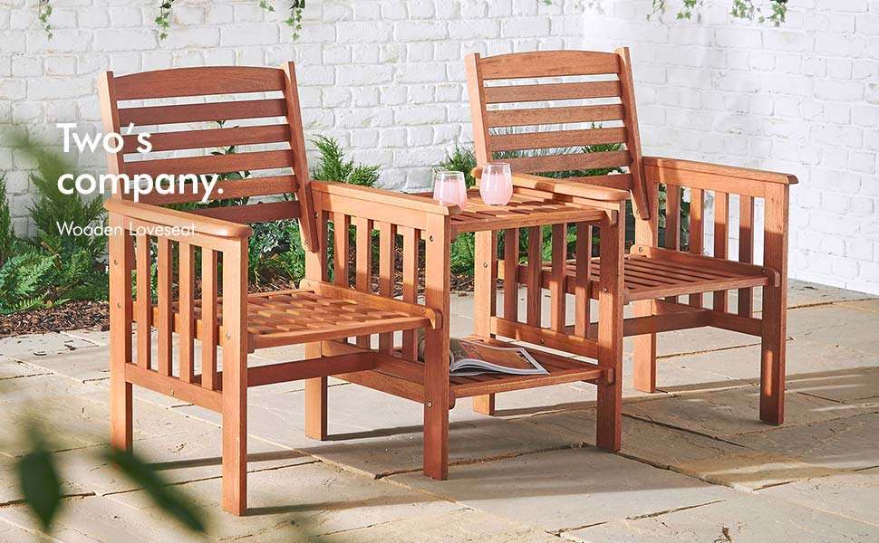 vonhaus loveseat love seat jack and jill jack & jill companion seat for couples