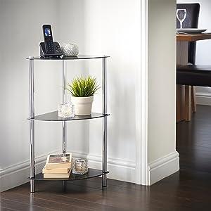 VonHaus Corner Table for Living Room - Small 3 Tier Unit ...