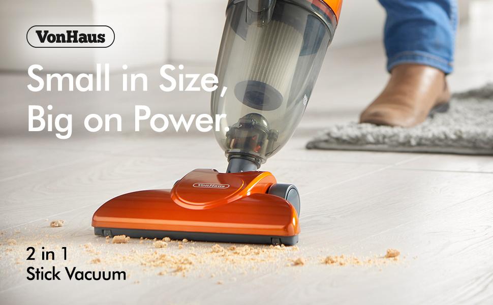Vonhaus Stick Vacuum Cleaner 600w Corded 2 In 1 Upright
