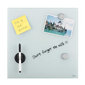 Vonhaus glass magnetic memo board 350 mm x 350 mm bulletin board edgy and adventurous the vonhaus black magnetic memo board is a uniquely designed modernistic addition for your home or office effortlessly combining m4hsunfo