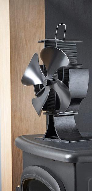 VonHaus 4 Blade Stove Fan - Silent, Heat Powered Wood ...