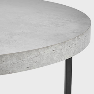 598633038c21e5 VonHaus Concrete-Look Round Coffee Table 80cm Diameter - Modern ...