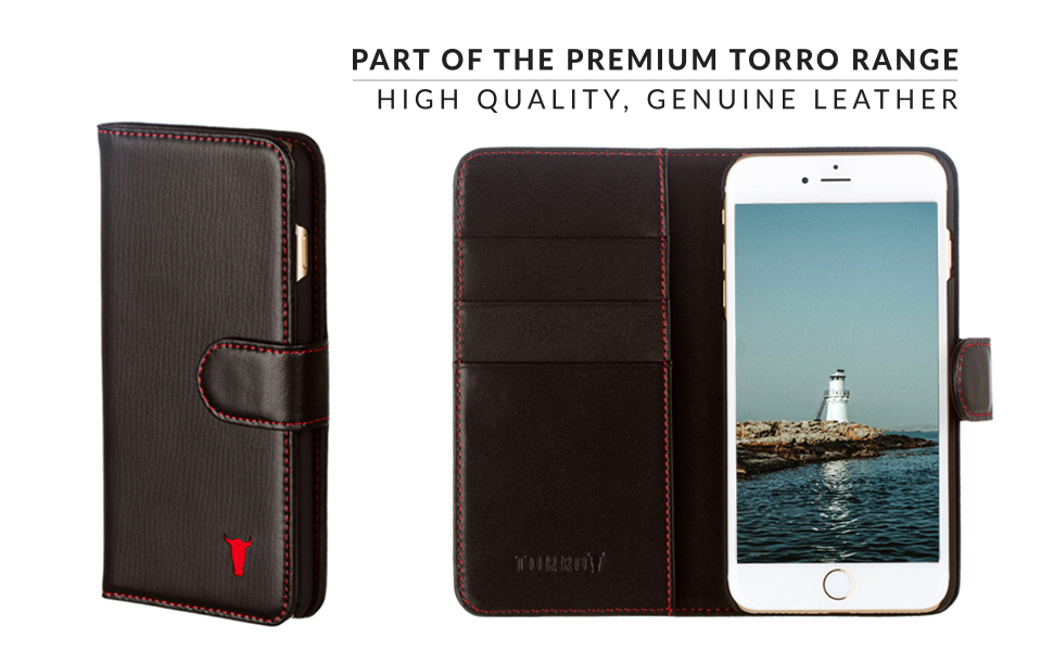 brand new ec884 82763 iPhone 8 Wallet Case / iPhone 7 Case Wallet. Premium Leather Wallet Case  for Apple iPhone by TORRO (Compatible with iPhone 7 and iPhone 8, Black)