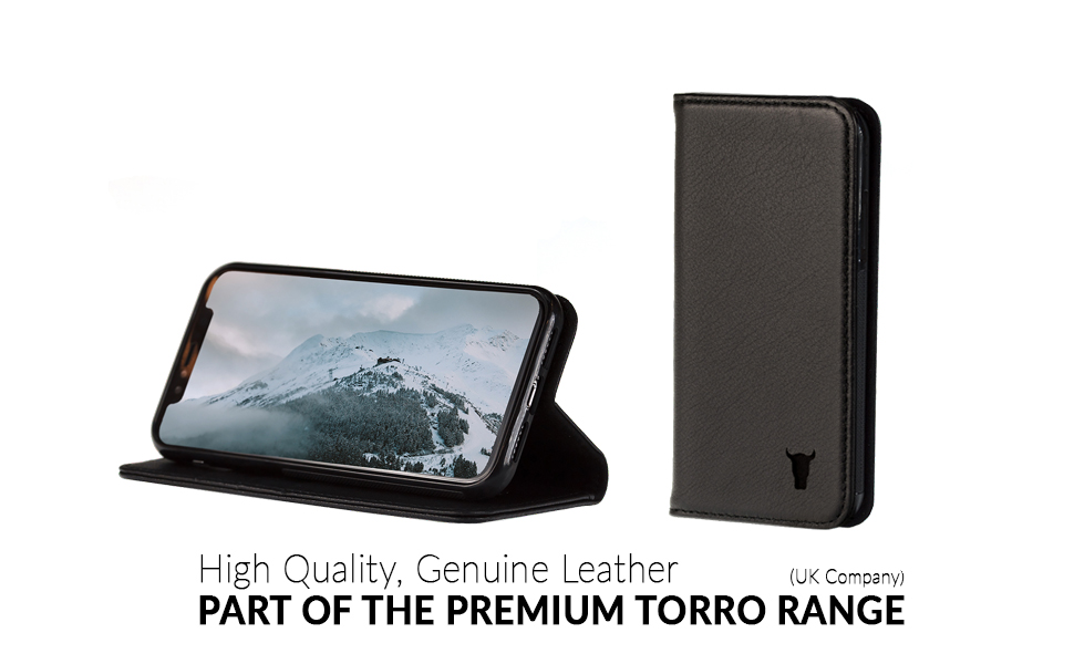 buy online 24739 220ca TORRO Premium Leather iPhone XS Max case, Stand Case for Apple ...