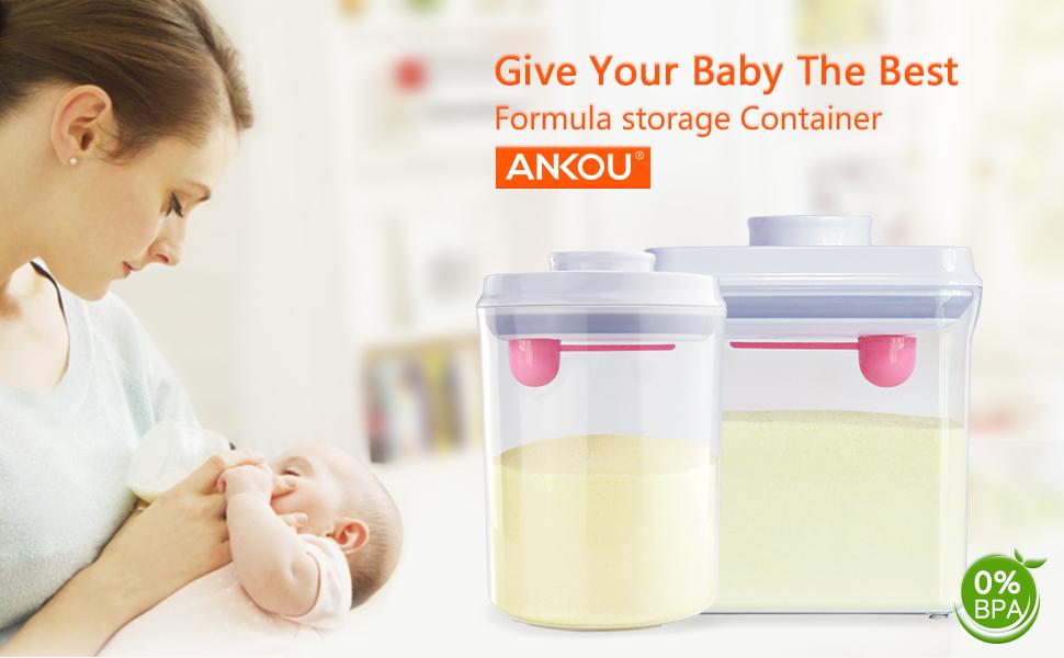 Formula Dispenser Airtight BPA Free Milk Powder Container Portable