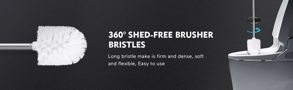 360 shed-free brush head