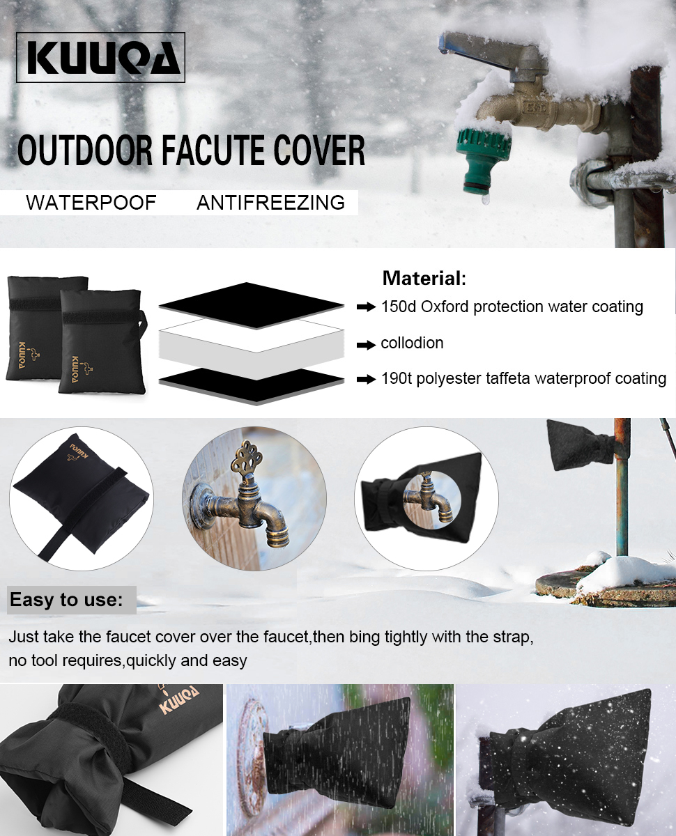 Kuuqa Outdoor Tap Cover Tap Jacket Outdoor Tap Cosy Cover Outside ...