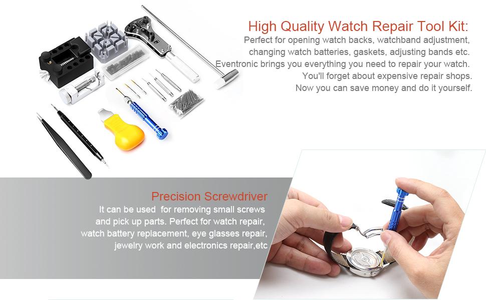 112 pcs watch repair kit eventronic professional spring bar tool watch repair solutioingenieria Images