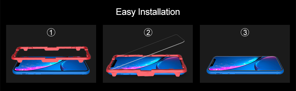 Tempered Glass Screen Protector For Apple iPhone XR-1