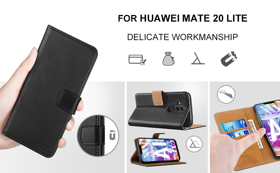 Huawei Mate 20 lite Case Cover Premium Leather Flip Wallet Phone Case Cover-2