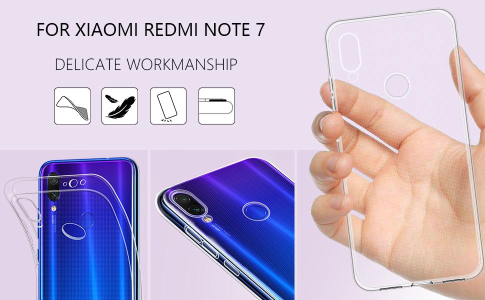 Xiaomi Redmi Note 7 Case Soft TPU Crystal Slim Protective Clear Case-2