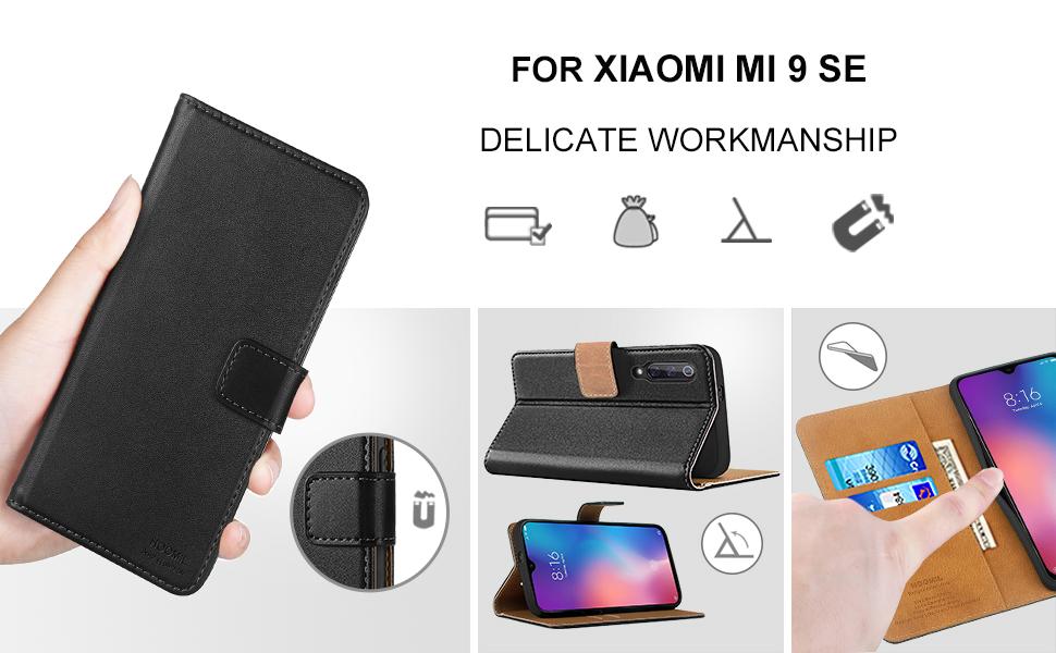Xiaomi Mi 9 SE Case,High Quality Wallet Business Phone Case Cover