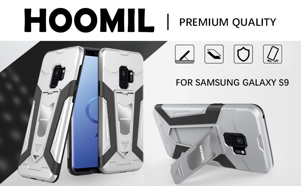 Samsung Galaxy S9 Hybrid Dual Layer Shockproof Hard Cover