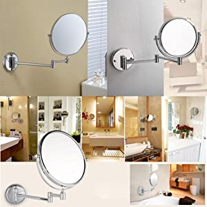 Aechoo bathroom mirror shaving mirrors make up wall mounted led our makeup mirror wall mounted mirror bathroom shaving mirror lighted makeup mirror with magnification is great ideas for decorate your bathroom and aloadofball Choice Image