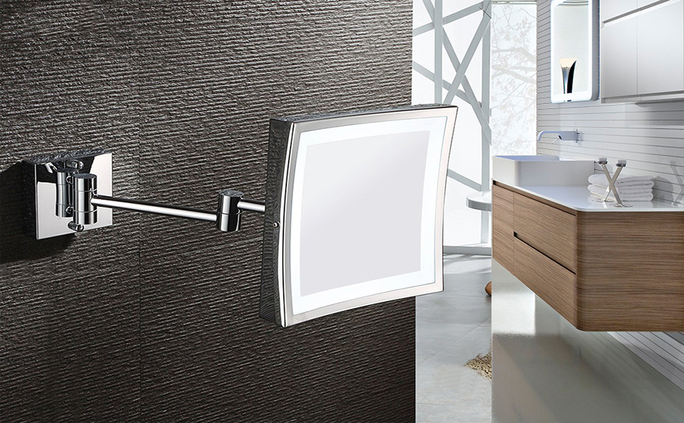 Ove Decors Villon Led Bathroom Mirror: AECHOO Wall Mounted Mirrors Makeup Shaving Mirror LED