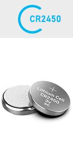 CR2450 3V Lithium Battery (10-pack)  CR 2450