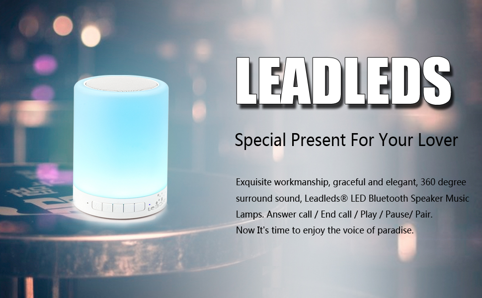 Leadleds Wireless Bluetooth Speaker Portable Music Lamps