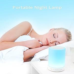 Leadleds Wireless Bluetooth Speaker Portable Music Lamps