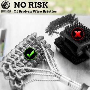 No Risk of Broken Wire Bristles
