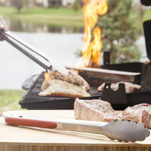 grill bbq cook chef tongs cooking