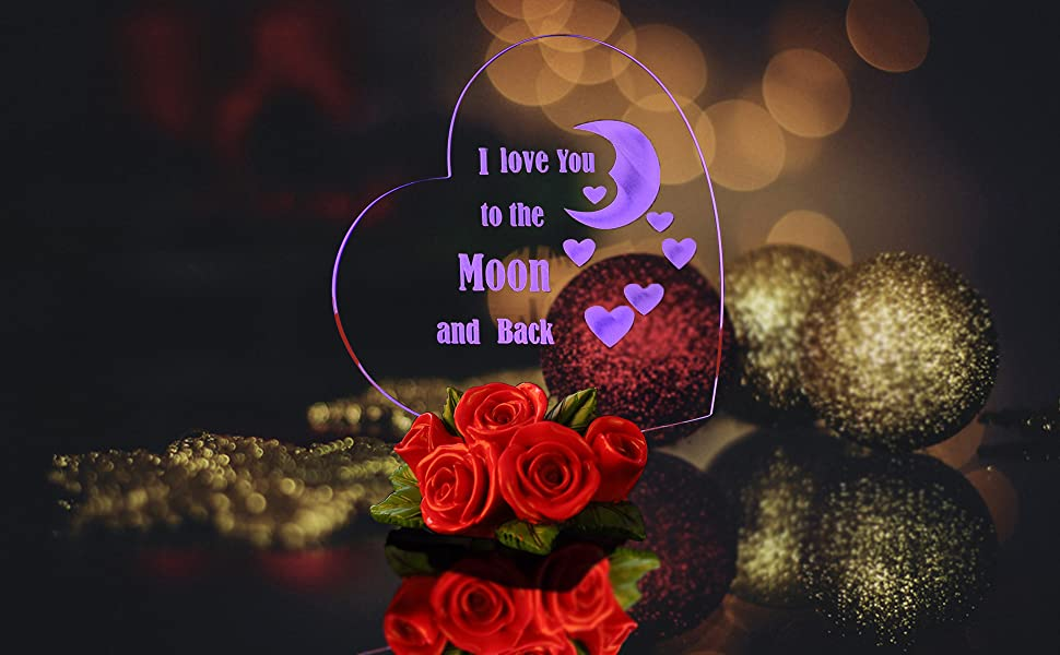 Giftgarden Led Heart I Love You To The Moon And Back