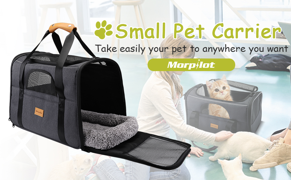 Pet Carrier Bag, Portable Pet Bag - Folding Fabric Pet Carrier, Pet Cage