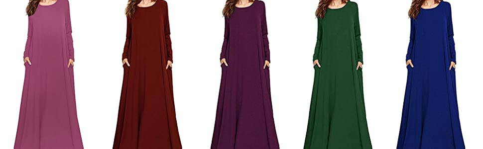 Kidsform Long Sleeve Maxi Dress