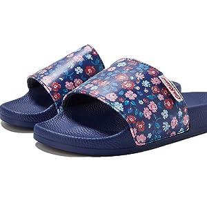 Womens Cath Kidston Slydes Sliders Flip Flop Shoes Blue Pool Beach Slippers
