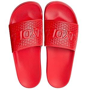 6ccc5a6f17b red slydes slider sliders mens slides post gym pool sandals adidas sports  fitness gymwear footwear