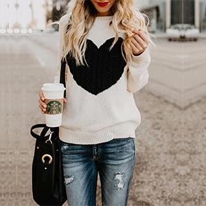 beige cute sweater for women
