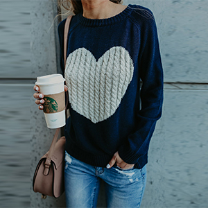 navy blue casual sweater