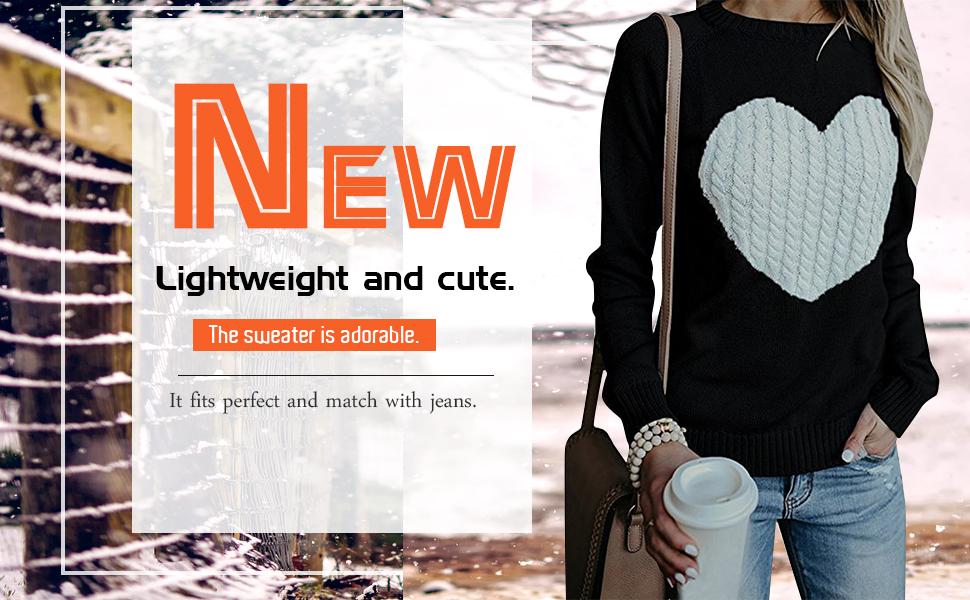 black heart shape knitted sweater