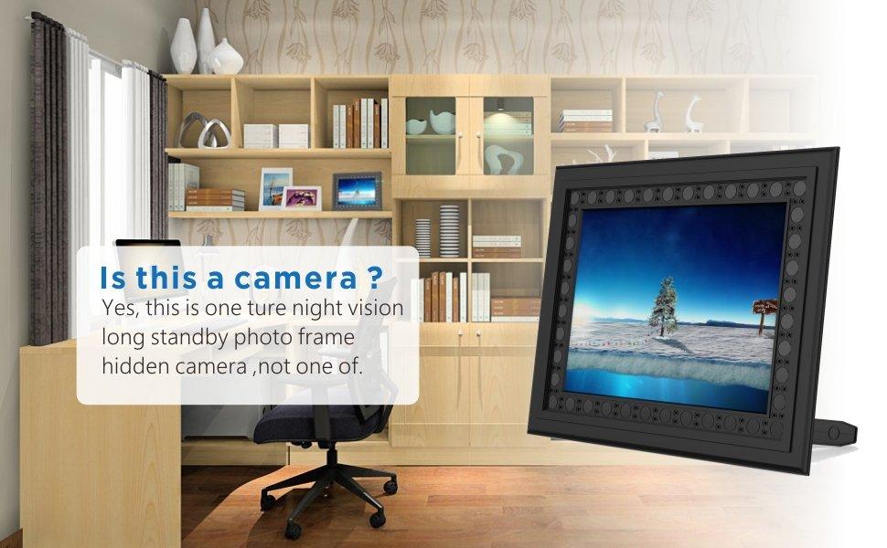 Conbrov T10 Hd 720p Photo Frame Hidden Spy Camera Night Vision