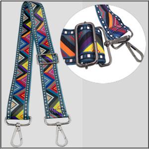 Abuyall Adjustable Canvas Bag Strap Woven Shoulder Bag Strap Floral Geometrie Panelled Lattice Solid Striped Ethnic Crossbody Handle Bag Replacement 53-55 Adjustable Belt