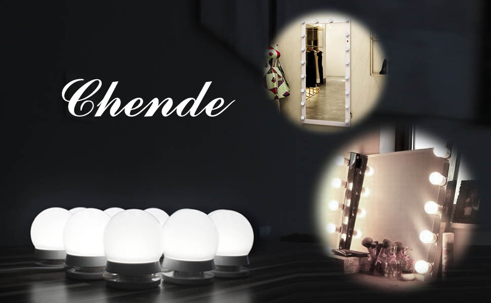 Chende hollywood style led vanity mirror lights kit with dimmable do you worry about the color difference after you makeup aloadofball Image collections