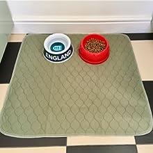 pet eating mat floor protector dog cat eating mat washable anti-slip bottom